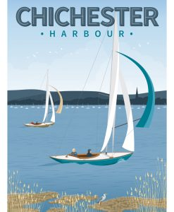 Chichester Harbour Bosham Itchenor Sussex Sailing Poster Print Art