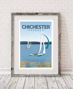 FRAMED-Chichester-Harbour-Sailing-poster