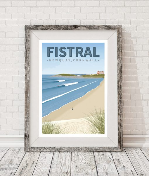 Fistral surf poster