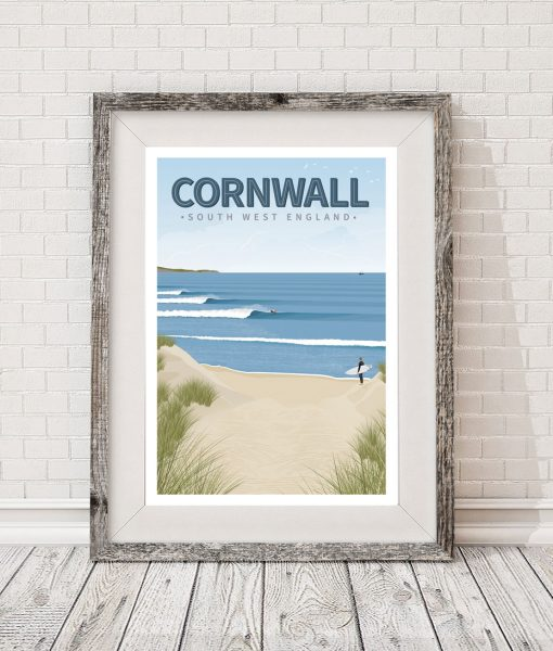 Comwall Pictures Design : cornwall a3 surf poster print 20 00 a3 surfing poster of cornwall ...