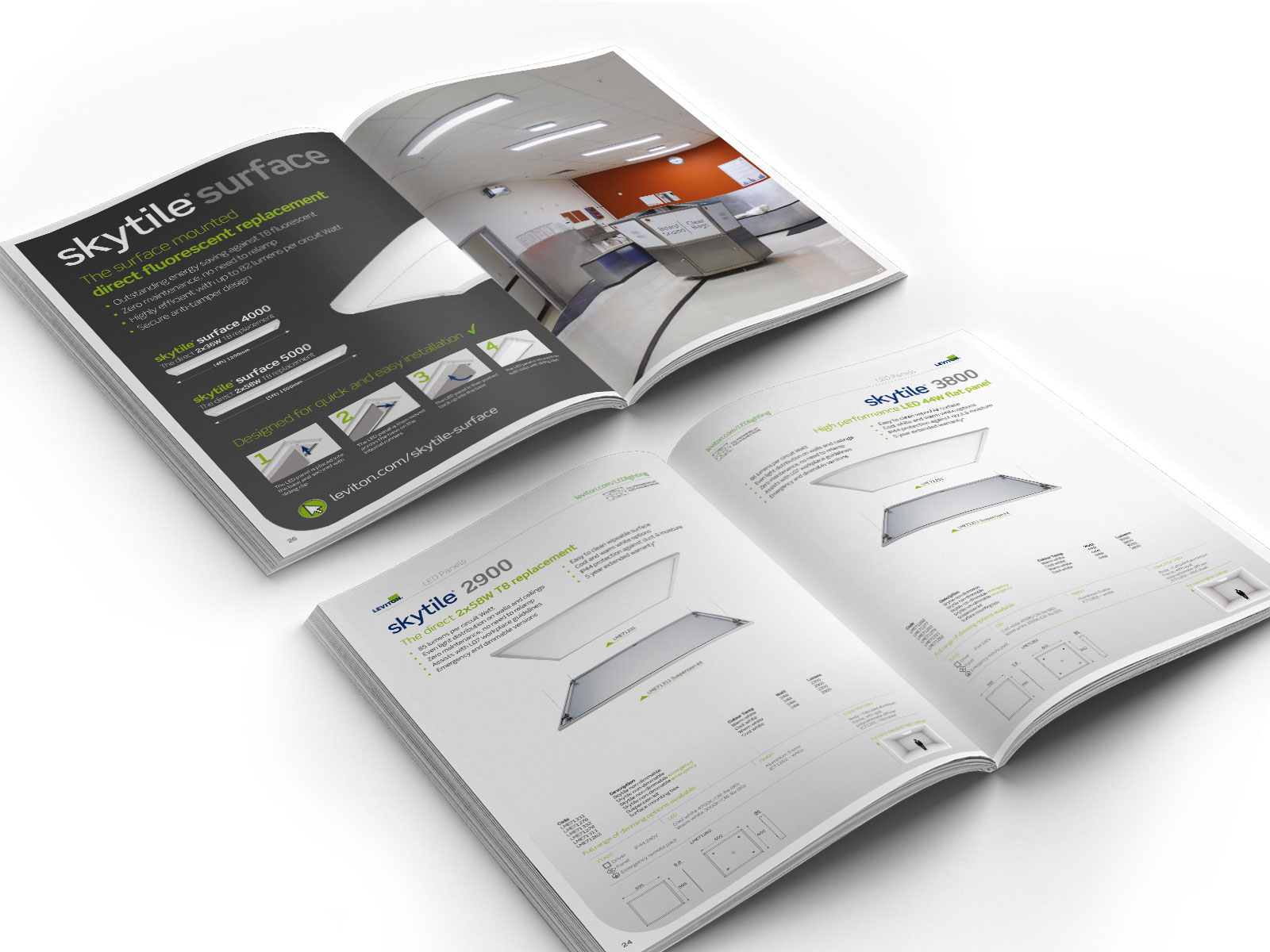Technical product brochure design