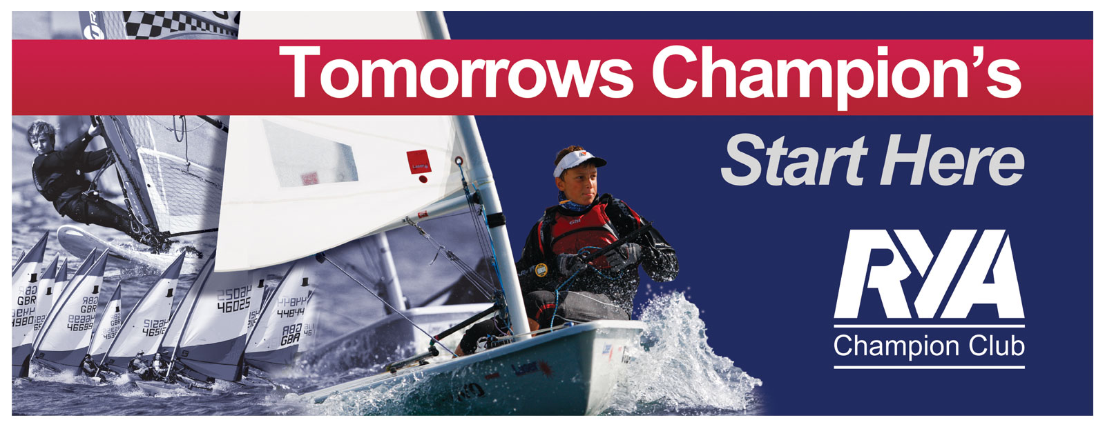 RYA sailing banner design
