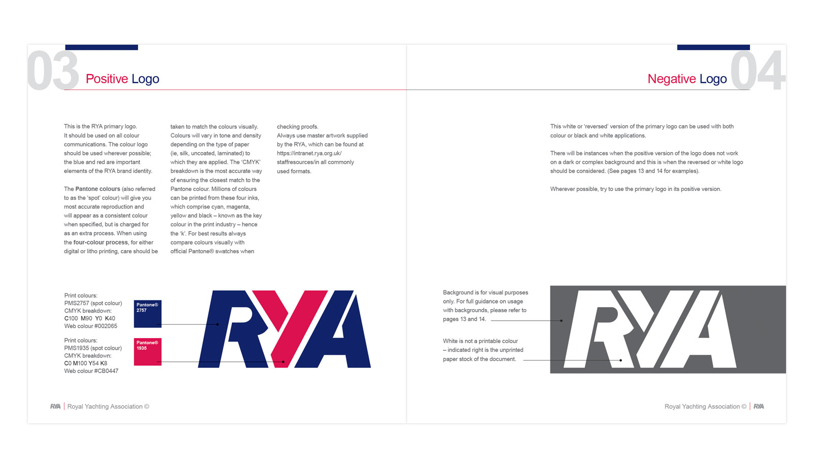 RYA Brand guidelines design